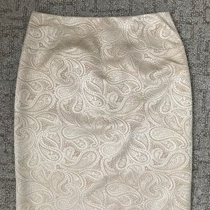 Linda Allard Ellen Tracy gold pencil skirt 4 p NEW
